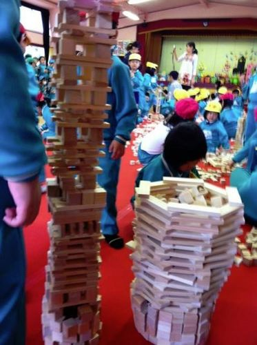 宮城仙台幼稚保育園老人介祉施設出張イベントレクレーション遊び積み木