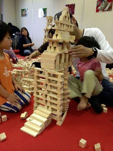 宮城仙台幼稚保育園老人介護福祉施設出張イベントレクレーション遊び積み木