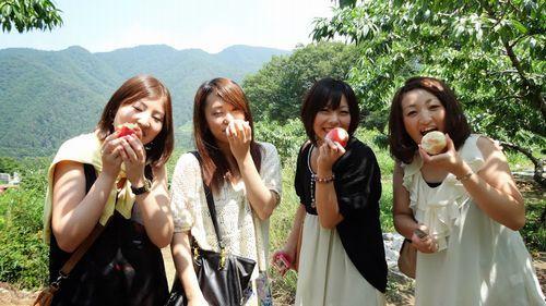 神奈川から近い山梨のおすすめ桃狩り食べ放題時間制限なし